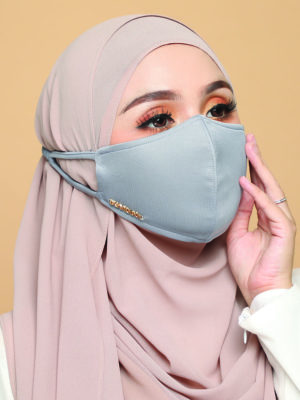 Basic Facemask – Greyish Blue
