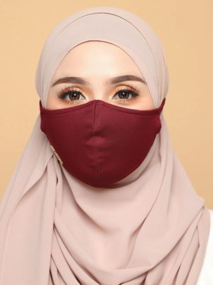 Basic Facemask – Maroon