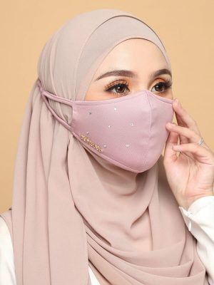 Diamond Facemask – Dusty Pink