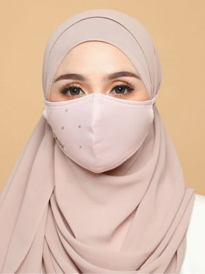 Diamond Facemask – Soft Pink