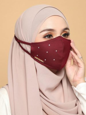 Diamond Facemask – Maroon