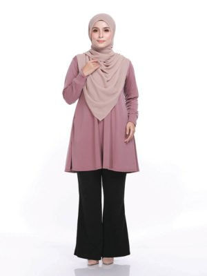 Laura Basic Blouse in Dusty Pink