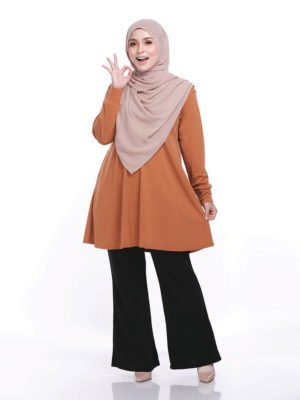Laura Basic Blouse in Rust