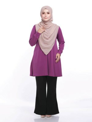 Laura Basic Blouse in Magenta