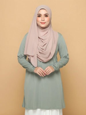 Laura Basic Blouse in Dusty Green