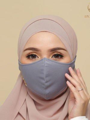 Basic Facemask – Greyish Blue