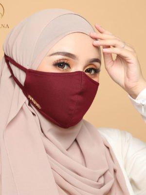 Basic Facemask – Maroon