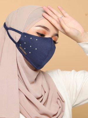 Diamond Facemask – Navy Blue