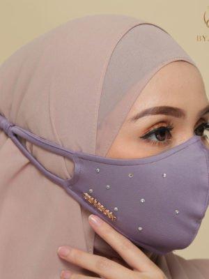 Diamond Facemask – Dusty Purple