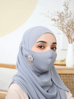 Exclusive Facemask Greyish Blue