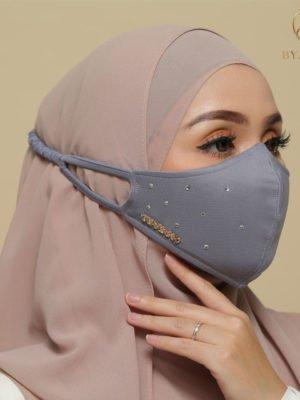 Diamond Facemask – Greyish Blue