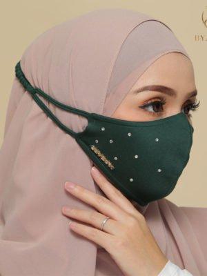 Diamond Facemask – Emerald Green