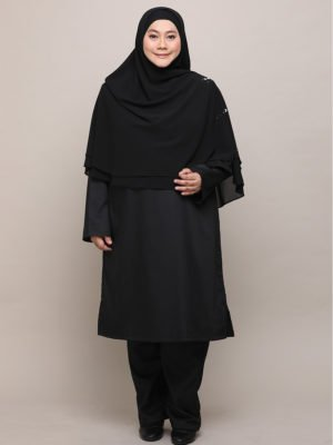 Qhadijah Suit – Black