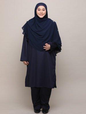 Qhadijah Suit – Dark Blue