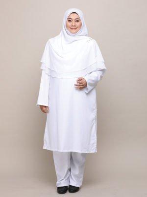 Qhadijah Suit – White