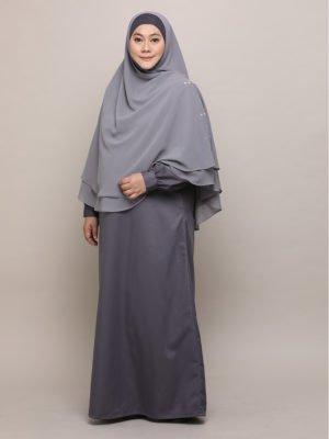 Saffiya Jubah-Grey