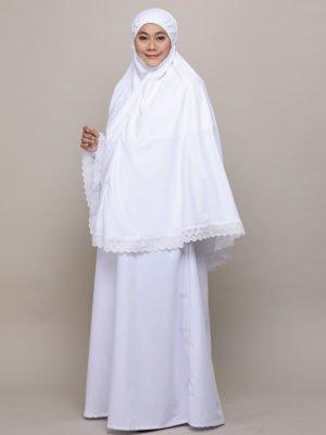 Saffiya Jubah-White