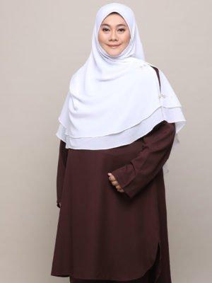 Wardah Suit – Dark Brown
