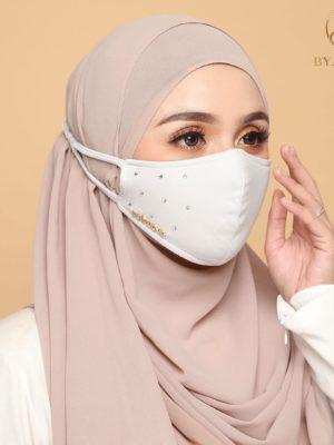 Diamond Facemask – White