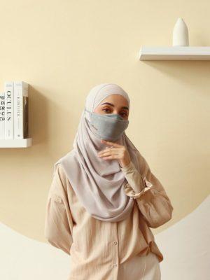 Luxe Diamond Facemask – Grey