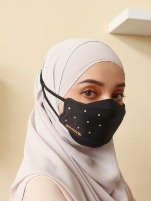Luxe Diamond Facemask – Black