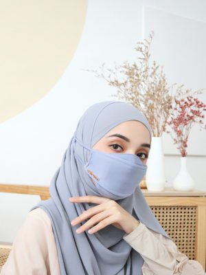 Luxe Basic Facemask – Windy Blue