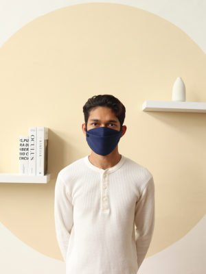 Luxe Basic Facemask – Navy Blue