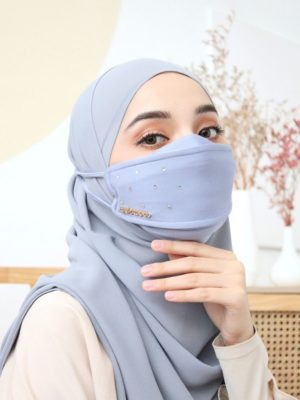 Luxe Diamond Facemask – Windy Blue