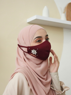 Exclusive Facemask Maroon